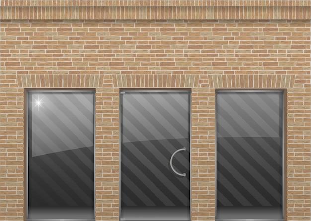 Brick facade in loft style