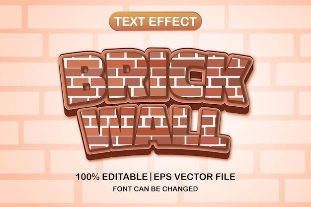 Кирпичная стена 3d редактируемый текстовый эффект