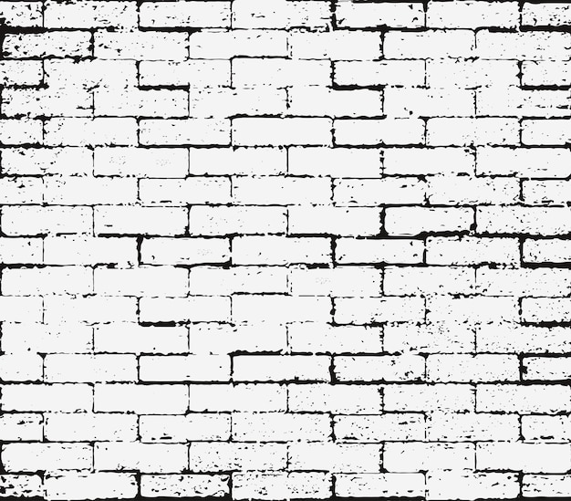 Brick wall overlay grunge seamless texture, abstract black and white distress texture. scratch rust background, rubber stamp