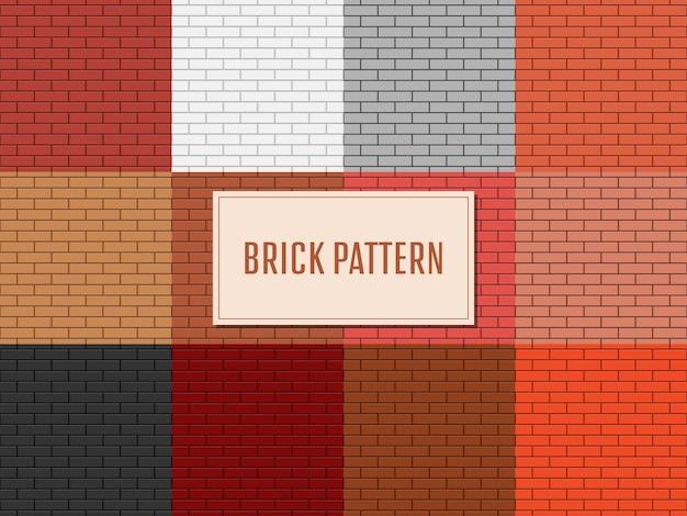 レンガの壁のパターンのデザインイラスト