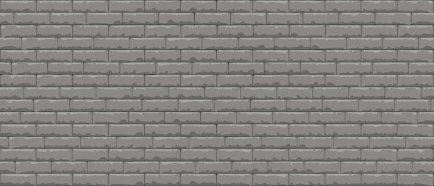 Brick wall pattern seamless background. realistic decorative background. .