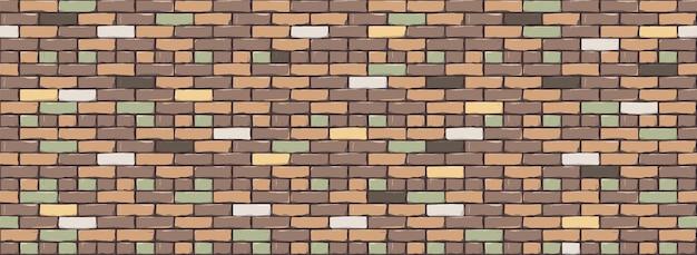 レンガの壁のテクスチャの背景。ベージュブラウンマルチカラーブリックウォールのデジタルイラスト。