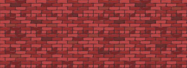 レンガの壁のテクスチャの背景。赤い色のレンガの壁のデジタルイラスト。