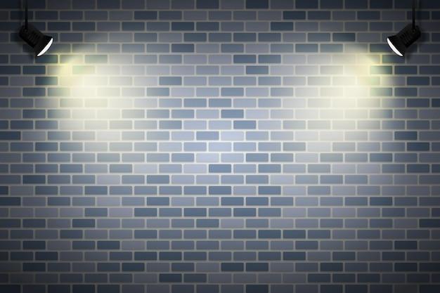 Кирпичная стена с фоном точечных огней