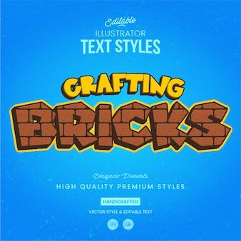 Bricks text style