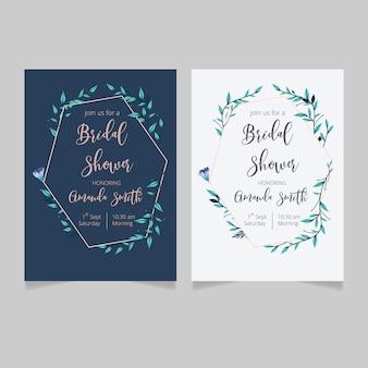 Bridal shower invitation template. floral bridal shower