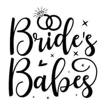 花嫁の女の子のタイポグラフィプレミアムベクトルデザイン引用テンプレート