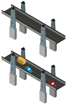 Bridge design with and without cars