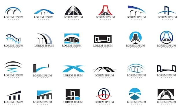 橋のロゴとシンボルベクトル