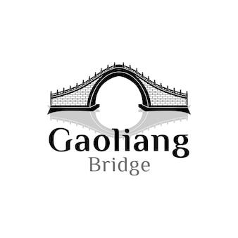 橋のロゴの概念ベクトルデザインのインスピレーション