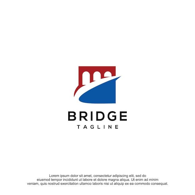 Bridge logo design vector template