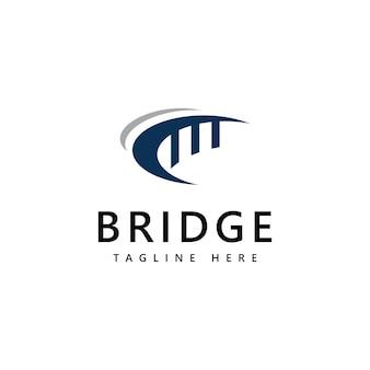 Мост логотип значок дизайн шаблона