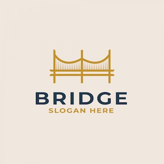Bridge logo template. vector illustration
