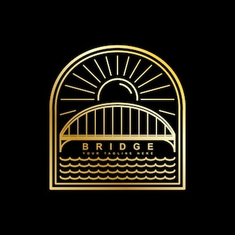 Bridge logo vector template