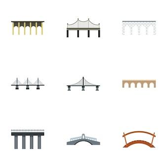 Bridge set, flat style