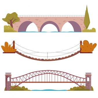 装飾要素が設定された橋