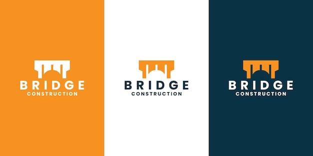 橋のシンボルのロゴデザインのインスピレーションベクトル