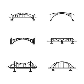 Мост вектор значок иллюстрации дизайн шаблона