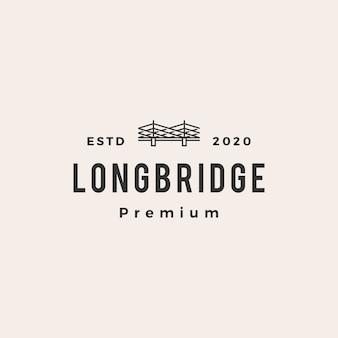 橋ビンテージロゴアイコンイラスト