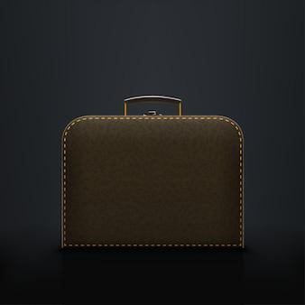 Briefcase on black
