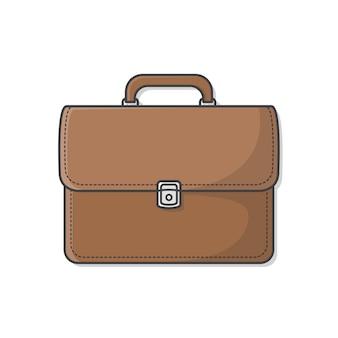 Портфель. деловой кожаный портфель. сумка бизнесмена