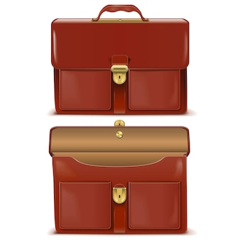 Briefcase icons isolated on white background