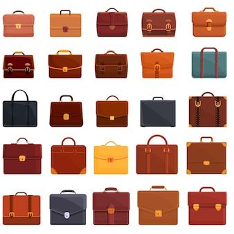 Briefcase icons set. cartoon set of briefcase  icons for web