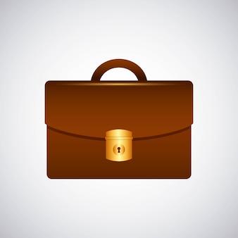 Briefcase portfolio isolated icon