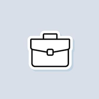 서류 가방 스티커. 케이스 기호입니다. 포트폴리오. 격리 된 배경에 벡터입니다. eps 10.