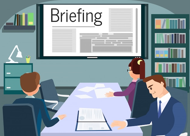Briefing or training conference business meeting.