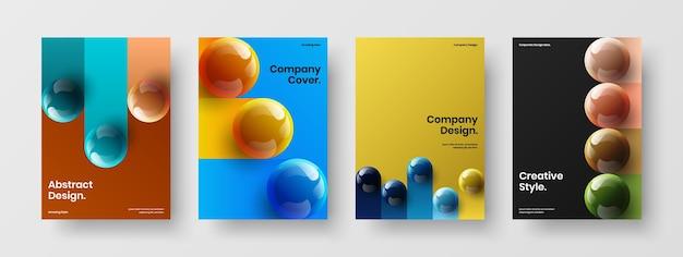 Коллекция шаблонов корпоративных буклетов bright 3d spheres