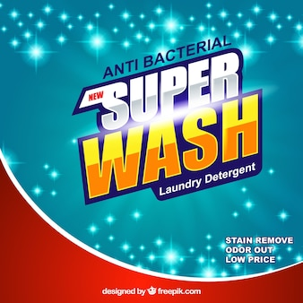 Bright abstract background of detergent
