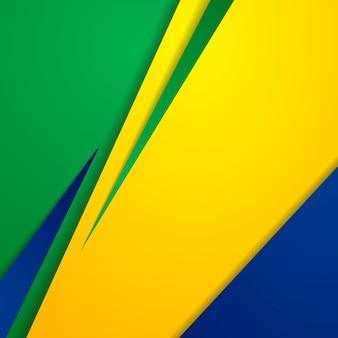 Яркий абстрактный фон в бразильских цветах. векторный дизайн