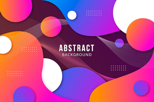 Bright abstract fluid background