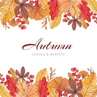Bright  and colorful autumn border