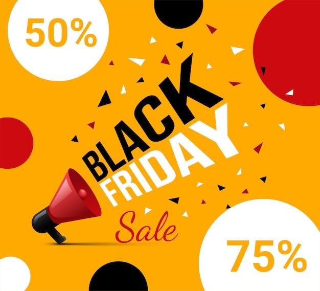 텍스트가 있는 밝고 화려한 검은 금요일 광고 전단지 디자인