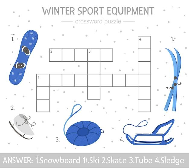 子供のための明るくカラフルな冬のクイズ。