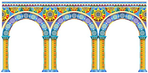 Яркая арка восточного дворца