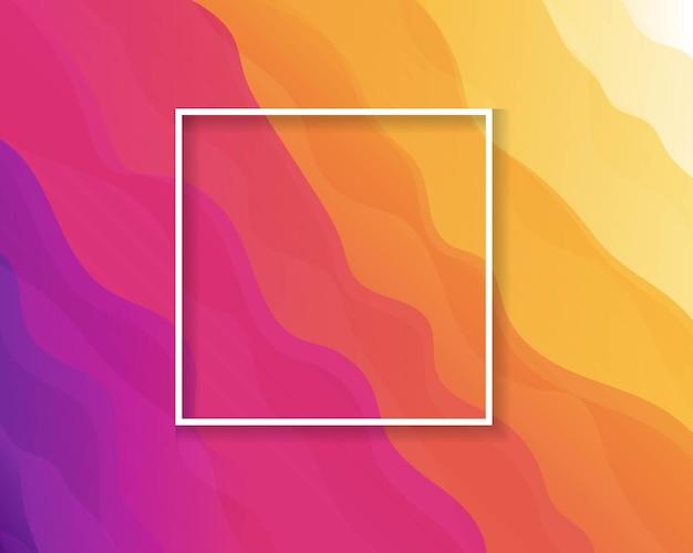 Яркий фон с линиями, размытием и рамкой