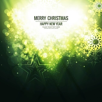 Bright background for christmas, green color