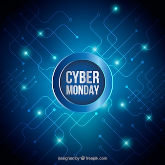 Bright background of cyber monday