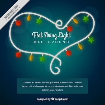 Bright background with illuminated bulbs