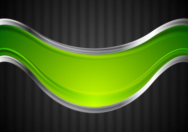 Bright background with metallic waves. vector design
