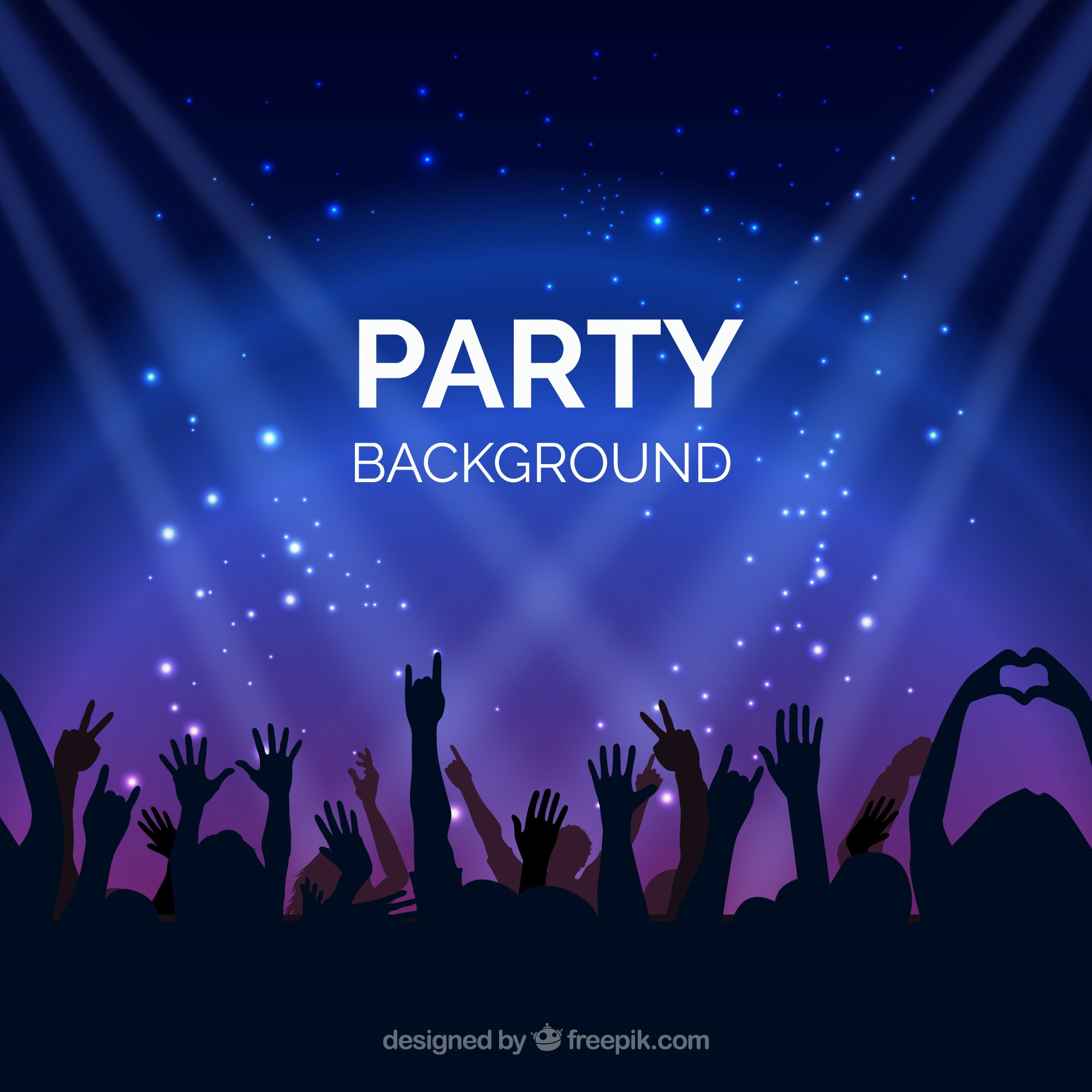 Bright background with party people