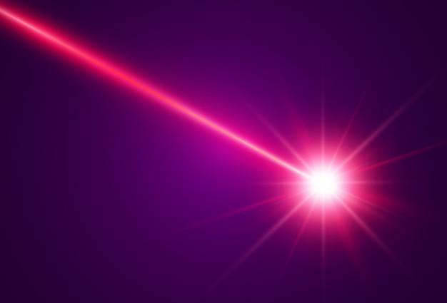 透明な背景に明るく美しいレーザー光線。スキャナーレーザー。
