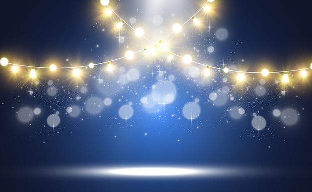 明るく美しいライトのデザイン要素輝くライト