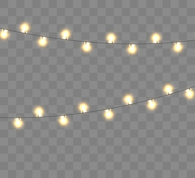 Bright beautiful new years garland christmas lights  illustration