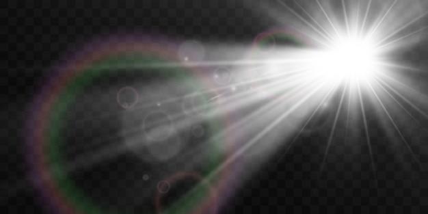 Яркая красивая звезда светового эффекта