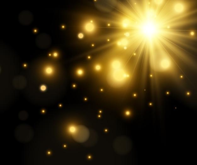 Яркая красивая звезда.