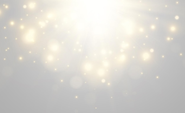 Bright beautiful starillustration of a light effect on transparent